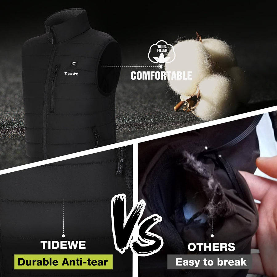 TideWe Women's Lightweight Heated Vest with Battery Pack for Hunting/Hiking
