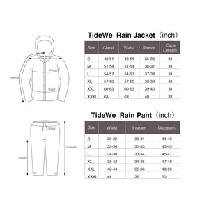TideWe Rain Suit Breathable Waterproof Durable Sport Rainwear Brown