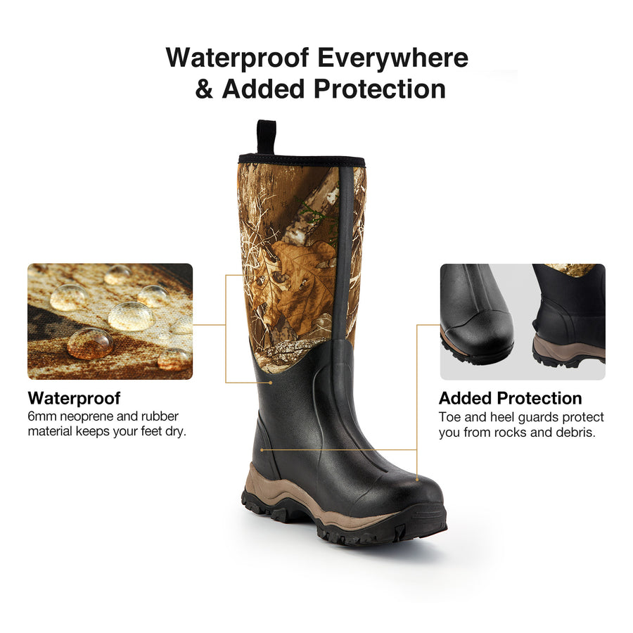 "TideWe Hunting Boots for Men 16"", 6mm Neoprene and Rubber Durable Outdoor Boot (400Gram & Standard)"