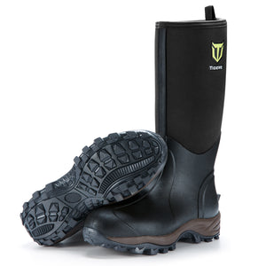 TideWe Rubber Neoprene Boots Men and Women Waterproof Durable 6mm Hunting Boots Muck