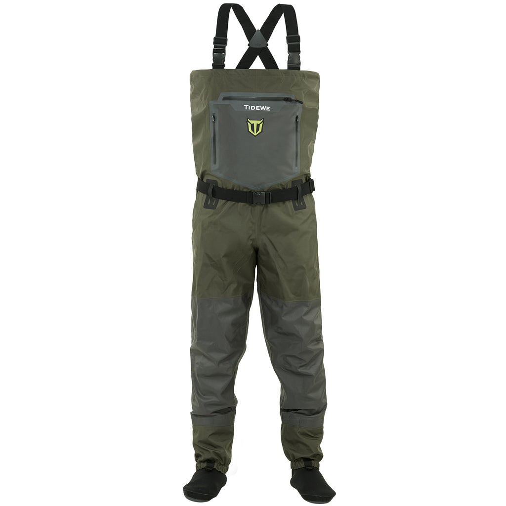TideWe Breathable Chest Waders Waterproof Stocking Foot Waders Fishing Waders