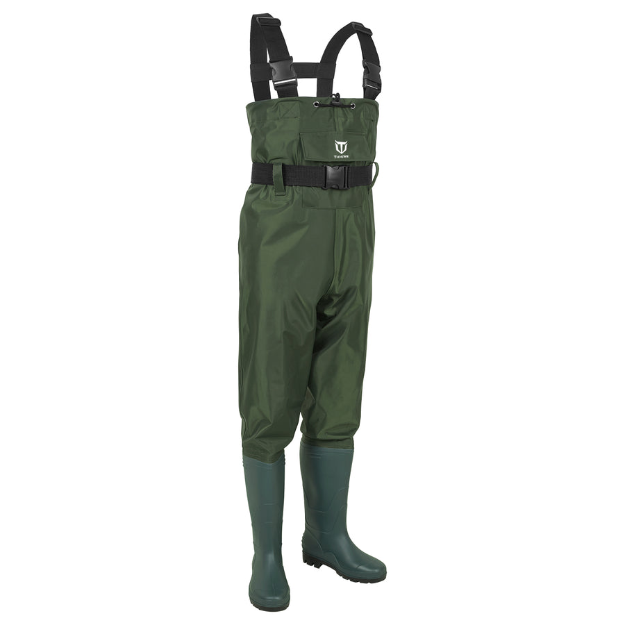 TideWe Bootfoot Fishing Chest Waders PVC Waterproof Fishing & Hunting Waders