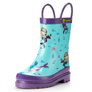 TideWe Rain Boots for Kids and Toddlers, Rubber Rain Boots for Girls