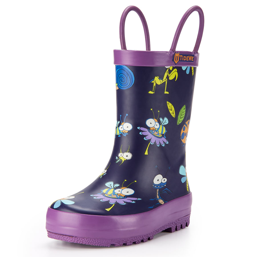 TideWe Rubber Rain Boots with Easy-On Handles
