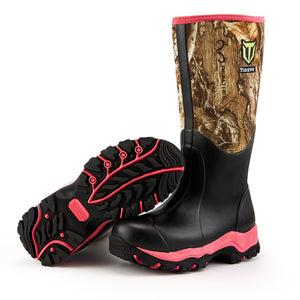 "TideWe Hunting Boots for Women 15""  (Pink & Light Teal Blue)"