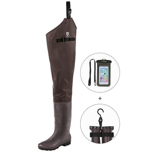 TideWe Hip Waders PVC Lightweight Fishing Hip Boots