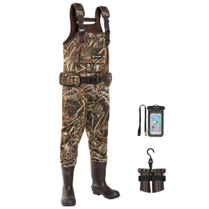 TideWe Hunting Chest Wader Realtree MAX5 Camo Waterfowl Duck Waders (600G & 800G Insulation)