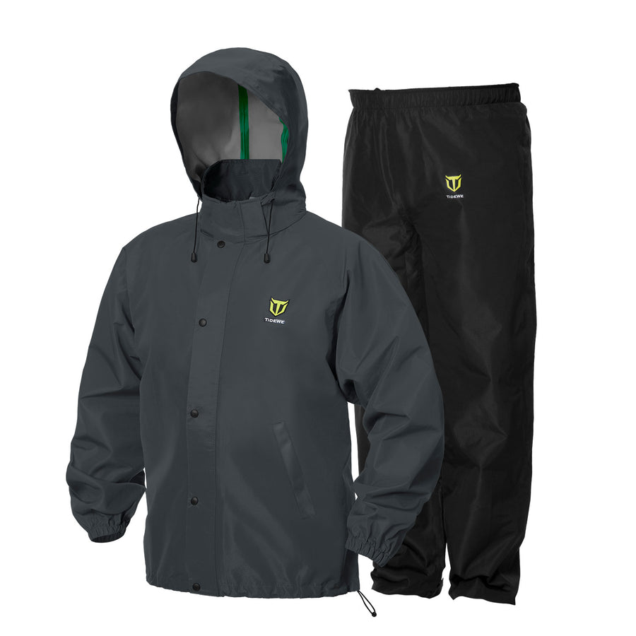 TideWe Rain Suit Breathable Waterproof Durable Sport Rainwear Gray