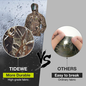 TideWe Rain Suit Breathable Waterproof Durable Sport Rainwear Camo-max 5