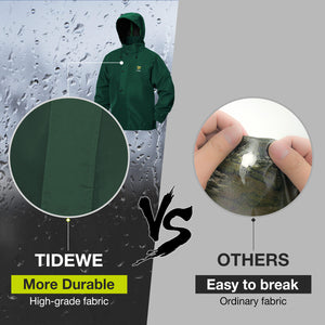 TideWe Rain Suit Breathable Waterproof Durable Sport Rainwear Green