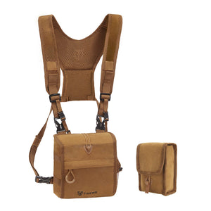 TideWe Bino Harness with Rangefinder Pouch & Rain Cover, Durable Lightweight Binocular Pack