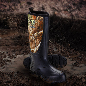 TideWe Rubber Hunting Boots for Men, Muck Rain Boots with Steel Shank Neoprene