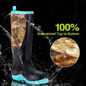 TideWe Rubber Boots for Women Muck Rain Boots with Steel Shank, Neoprene Outdoor Outdoor Hunting Boots Realtree
