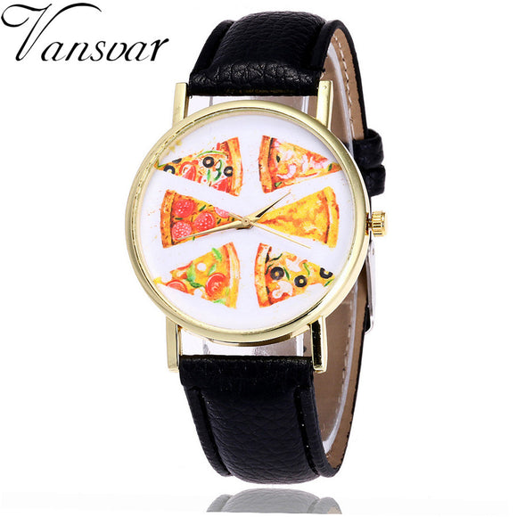 Vansvar Fashion Pizza Casual Women Watch