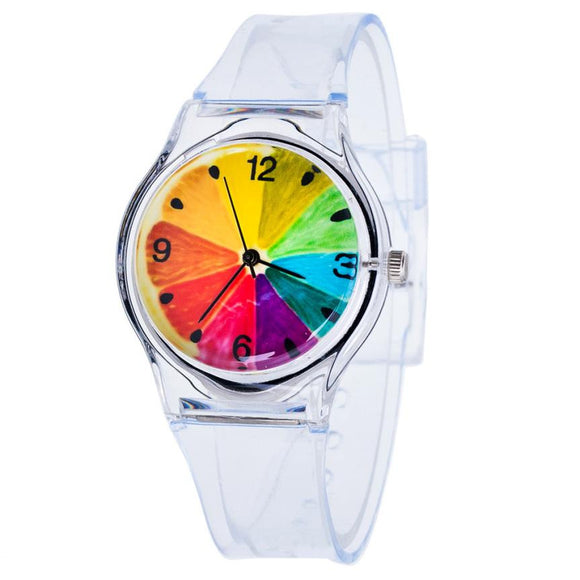 Transparent Silicone Watch for Kids Children Students Girls - 10 Colour Types
