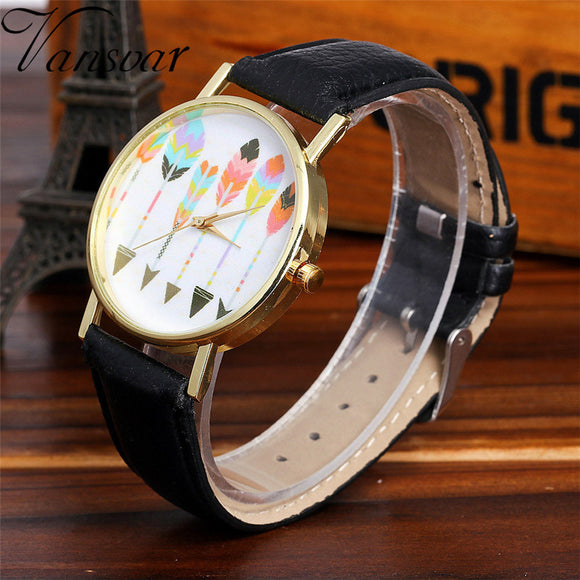 Vansvar Watch Candy Color Male And Female Strap Wrist Watch