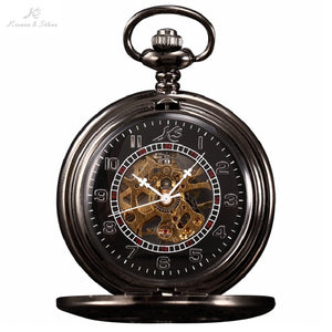 Classic Elegant Hand Winding Vintage Unique Jewelry Chain Pocket Watch