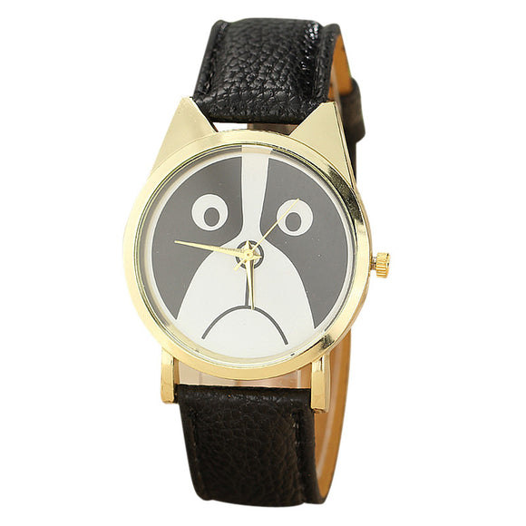 Panda Printing Pattern Leather Quartz Watch For Women