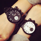 Lovers' Silicone Band Watches For Mens & Women