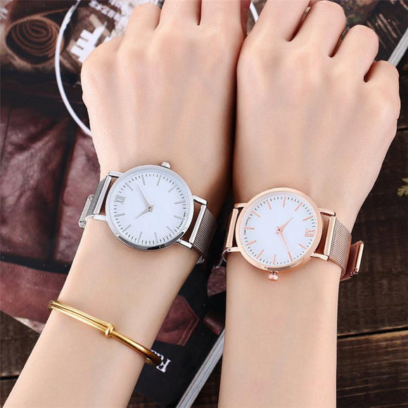Luxury Stainless Mesh Band  Watches - Unisex