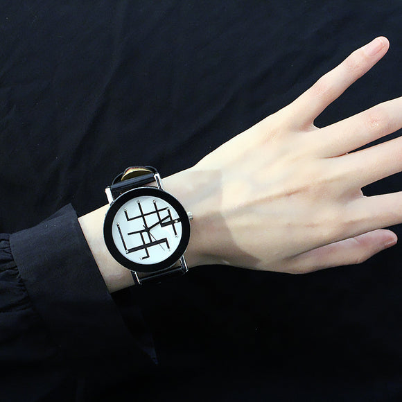 Unique Line Pattern Dial Watch For Men & Women