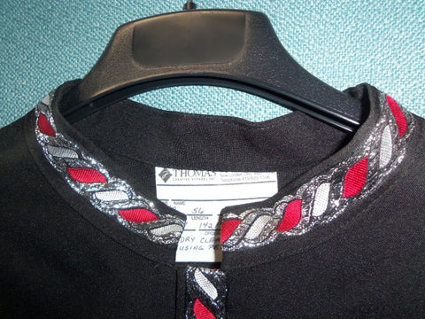 N3 Braid trim on Standing Collar - Thomas Creative Apparel