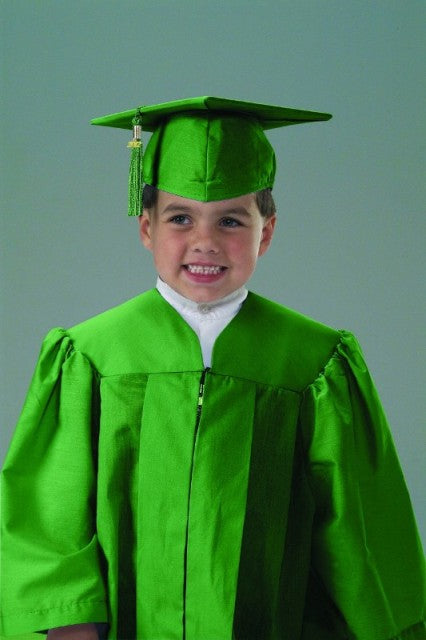 MiniGrad Cap and Gown Basic Set - COTTON FABRIC - Thomas Creative Apparel