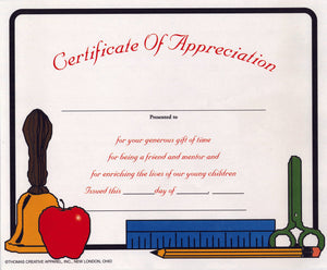 3300CA Certificate Of Appreciation