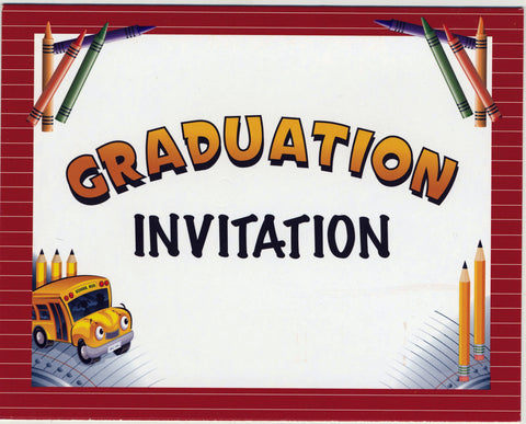 5929 Graduation Invitations - Thomas Creative Apparel