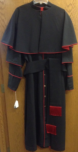 Cassock, Cincture and Short Cape Set