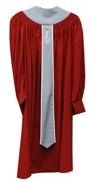 8860 Fluted Choir Robe - Rich Maroon - Thomas Creative Apparel