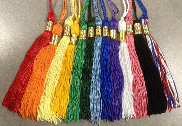 MiniGrad Cap & Tassel w/ Date Drop - #44 POLYESTER FABRIC - Thomas Creative Apparel