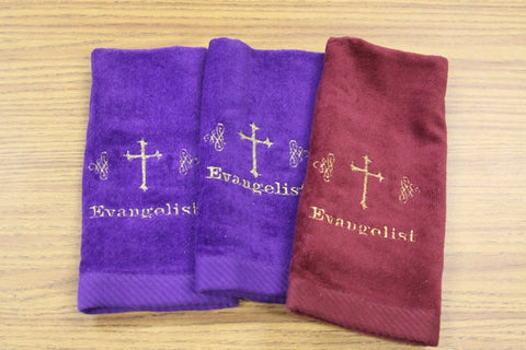 Hand Towel Evangelist and embroidery - Thomas Creative Apparel