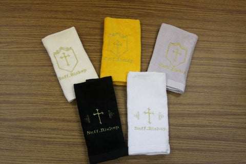 Hand Towel Suff. Bishop w/ Cross Design - Thomas Creative Apparel