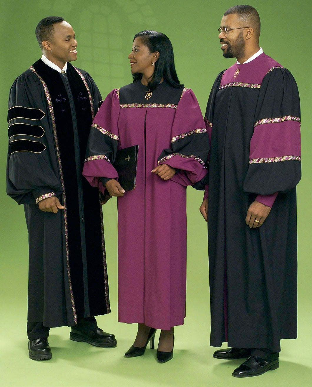 4434T 6508T Gospel Choir Robes and Clergy Robe