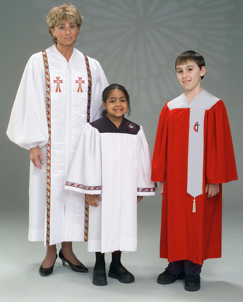 4441V 3314 Youth Choir Robes, Clergy Robe - Thomas Creative Apparel