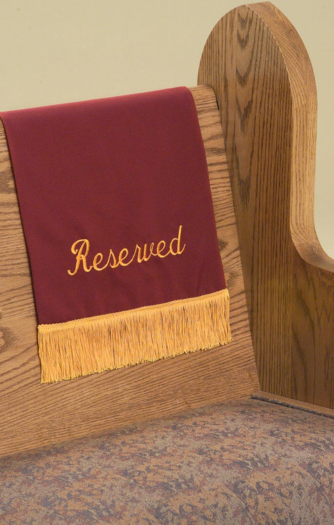 1924 RESERVED Pew Marker - Thomas Creative Apparel