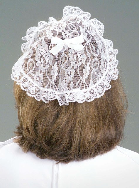 9275 Lace Prayer Cap - Thomas Creative Apparel