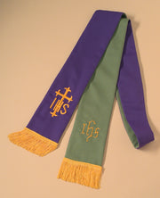 4600 Clergy Stole - Red/White, Purple/Green - Thomas Creative Apparel