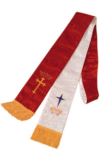 4600 Clergy Stole - Red/White