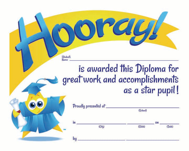 3300DST Star Pupil Diploma - Thomas Creative Apparel