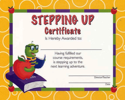5926 Stepping Up Certificate - Thomas Creative Apparel