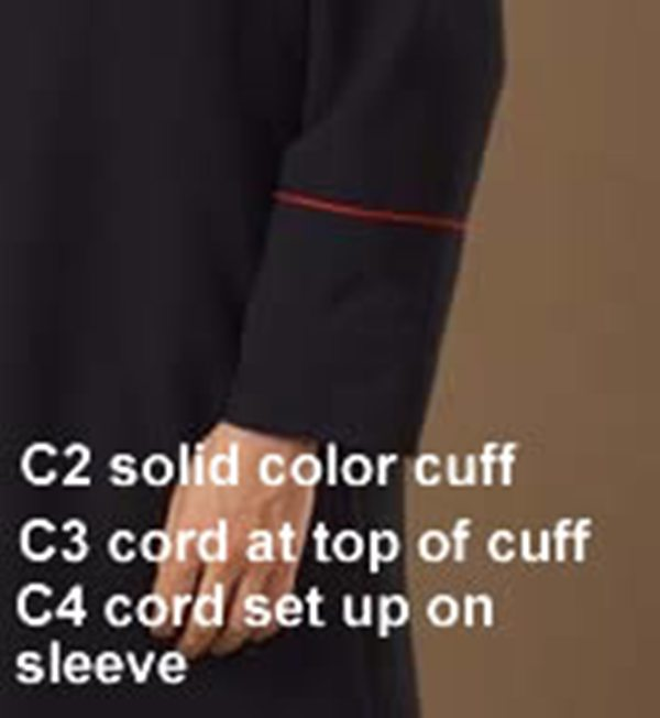 C2 C3 C4 Cuff Options - Thomas Creative Apparel