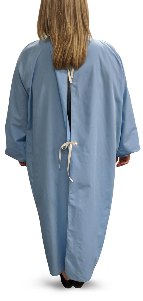 ADULT Gowns - PPE - Washable 65/35 Polyester Cotton - Thomas Creative Apparel