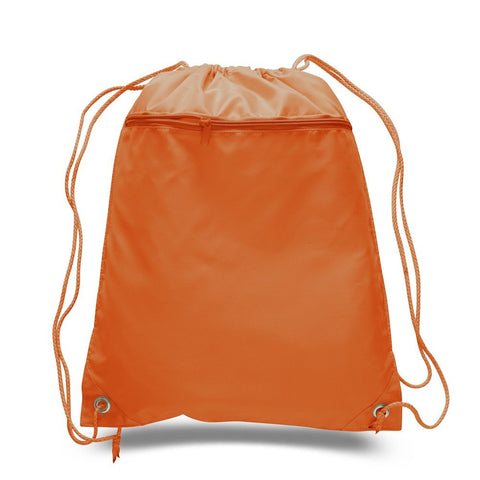 Orange Drawstring Bag - Thomas Creative Apparel