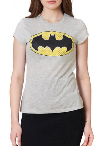 Bat Girl The Classic Gal Grey Half Sleeve Women