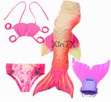 Girls Swimming Mermaid Tail Swimsuit Flipper