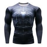 Marvel Heroes Fitness MMA Compression Shirt Men