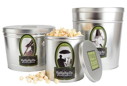 2 Gallon Popcorn Tins