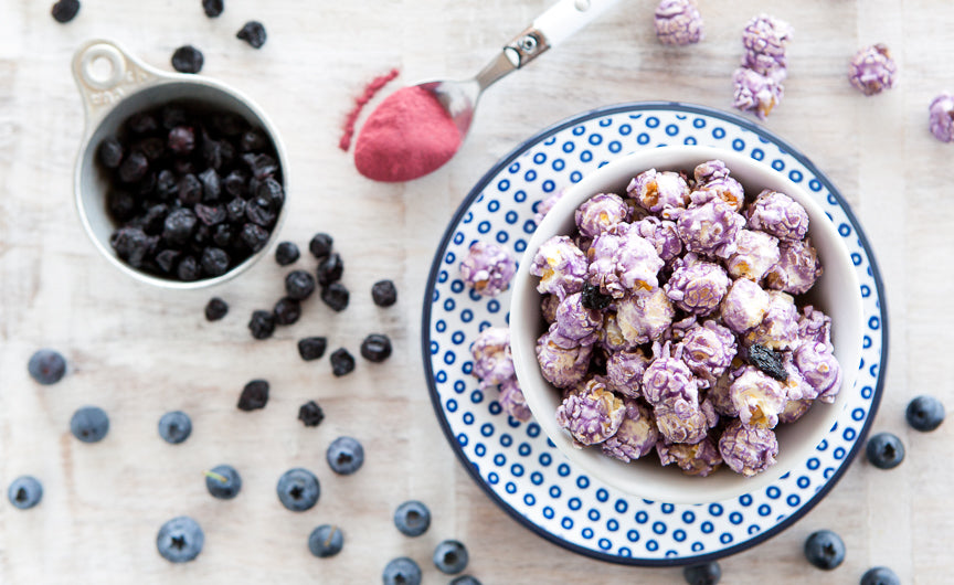 Wild Huckleberry – Naturally flavored with Huckleberry extract and sprinkled with whole dried huckleberries, this flavor is the perfect pairing to a cold glass of lemonade on a hot day.